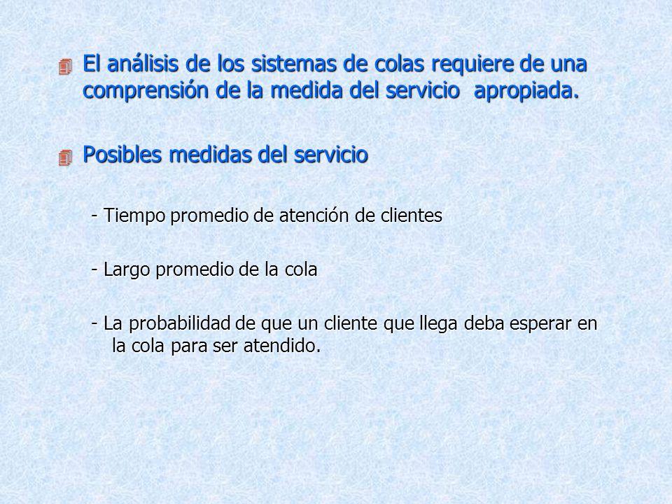 Posibles medidas del servicio