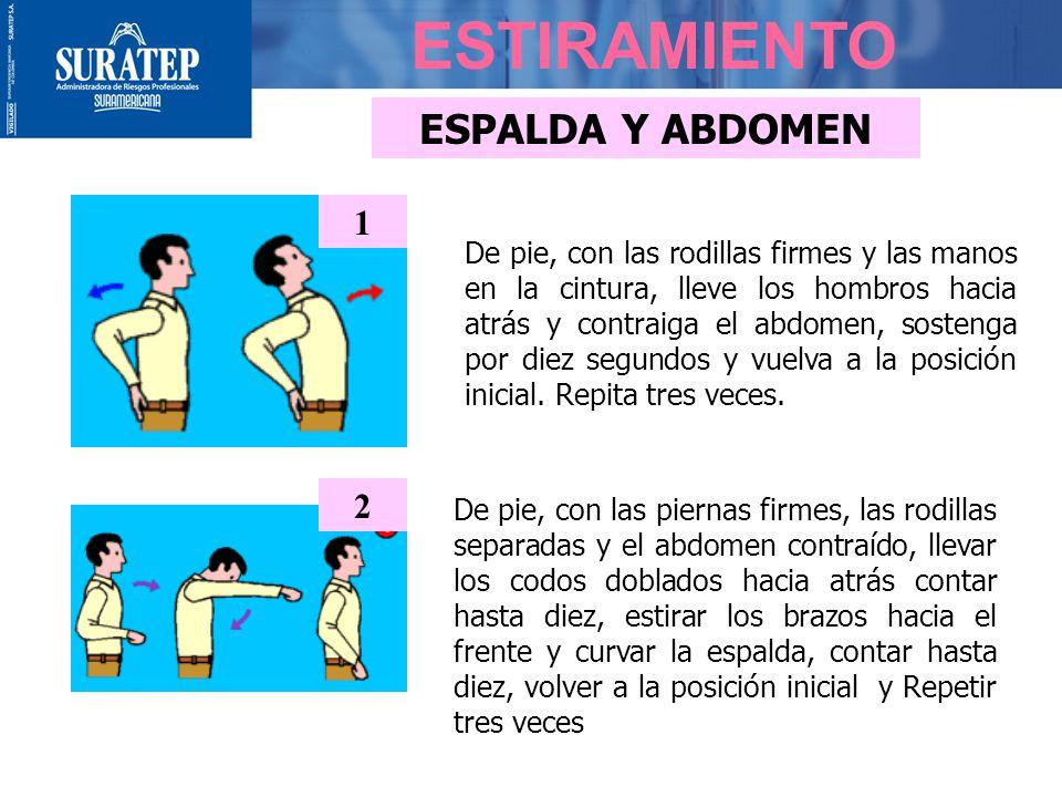 ESTIRAMIENTO ESPALDA Y ABDOMEN 1 2