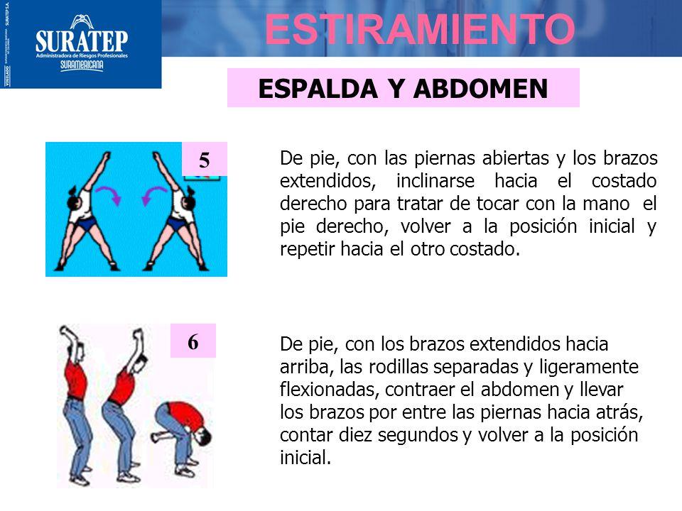 ESTIRAMIENTO ESPALDA Y ABDOMEN 5 6