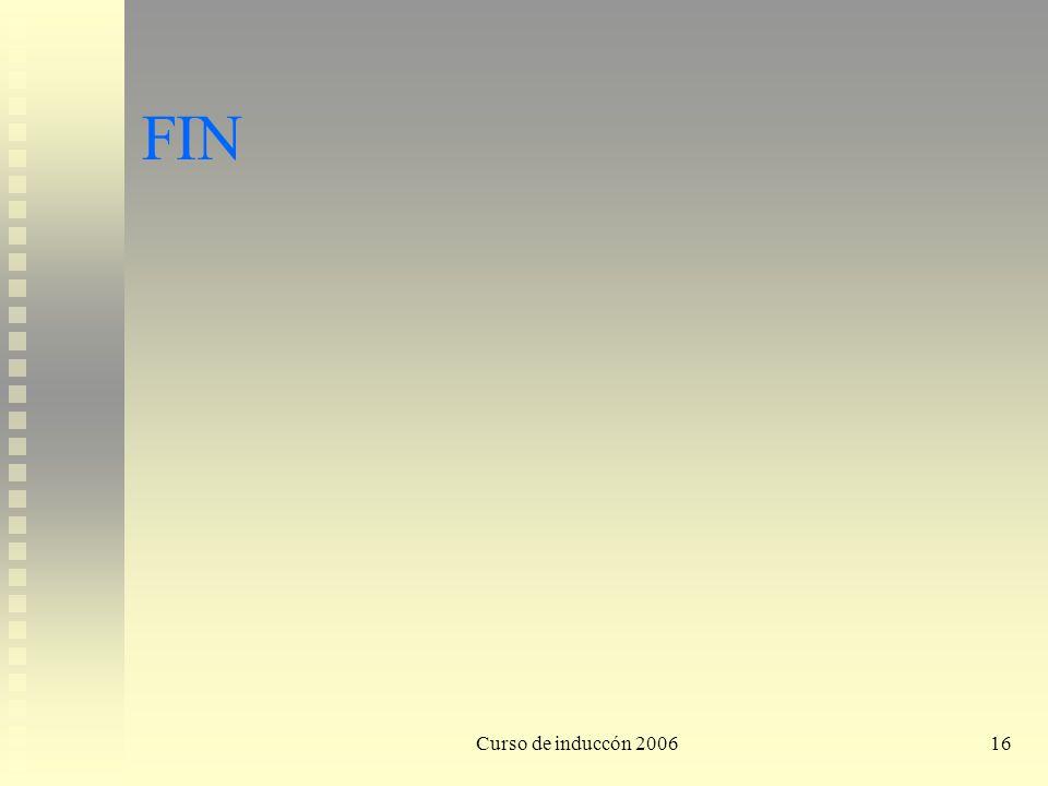 FIN Curso de induccón 2006