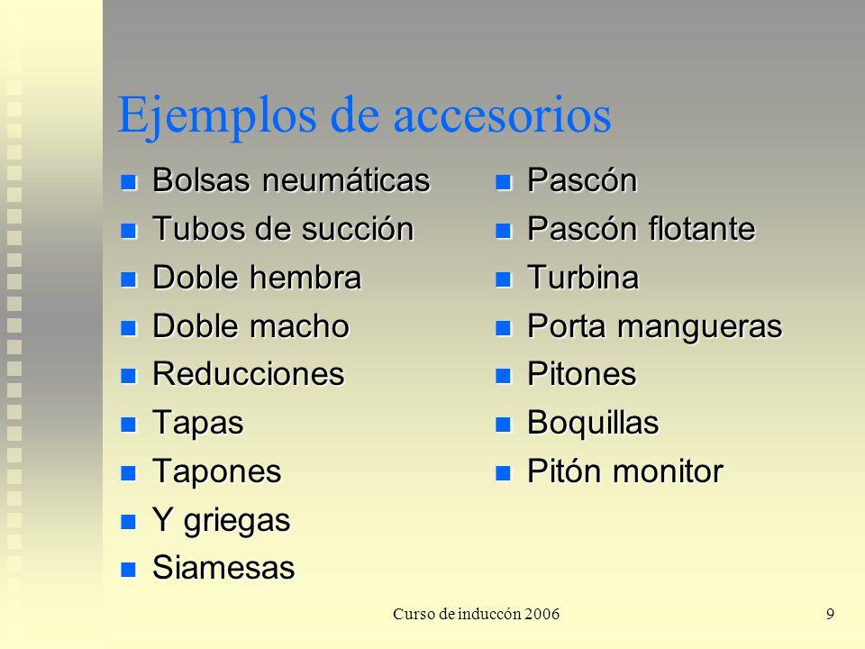 Ejemplos de accesorios