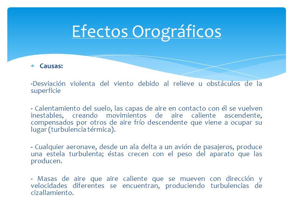 Efectos Orográficos Causas: