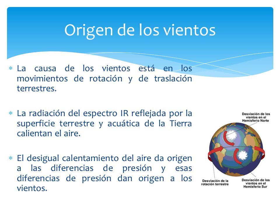 Origen de los vientos La causa de los vientos está en los movimientos de rotación y de traslación terrestres.