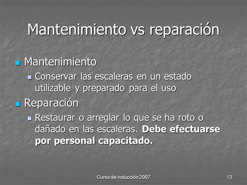 Mantenimiento vs reparación