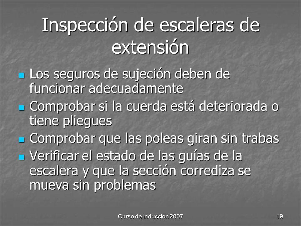 Inspección de escaleras de extensión