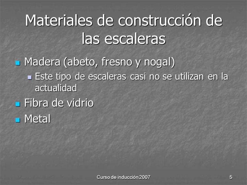 Materiales de construcción de las escaleras