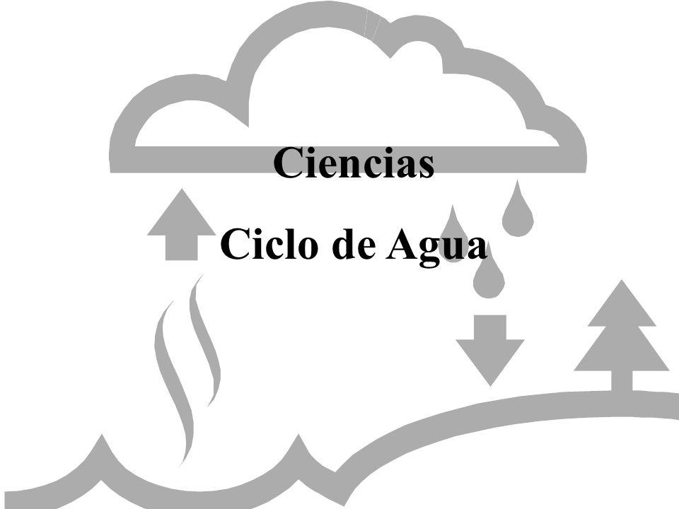 Ciencias Ciclo de Agua