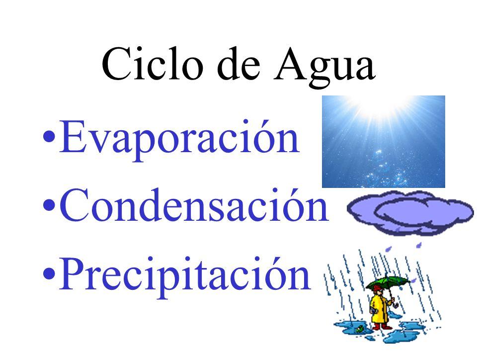 Ciclo de Agua Evaporación Condensación Precipitación