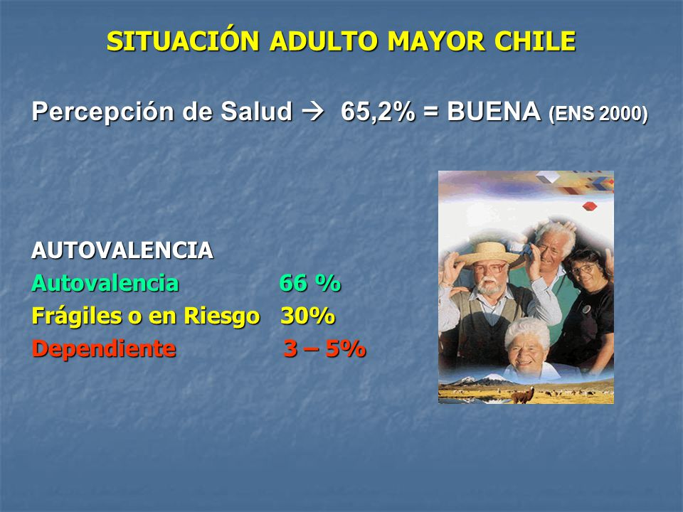 SITUACIÓN ADULTO MAYOR CHILE