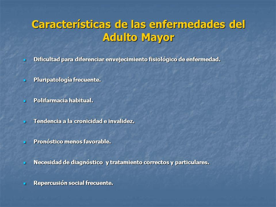 Características de las enfermedades del Adulto Mayor