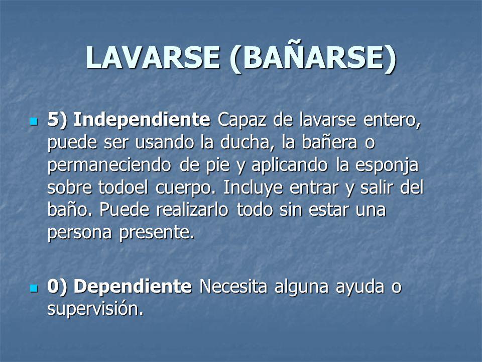 LAVARSE (BAÑARSE)