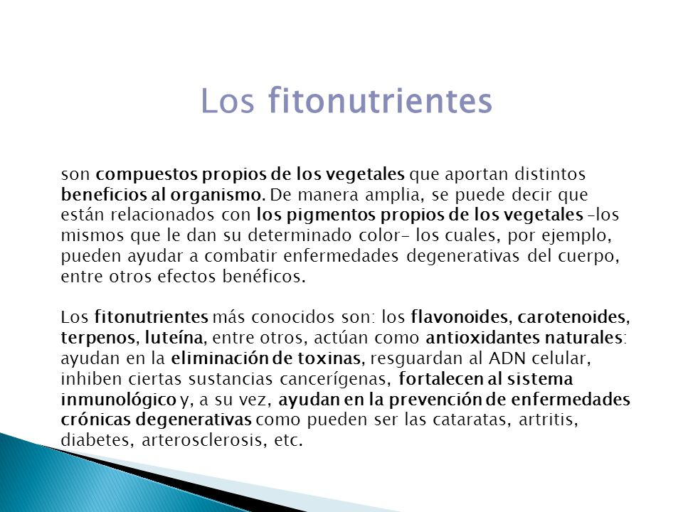 Los fitonutrientes