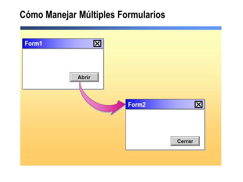 Cómo Manejar Múltiples Formularios