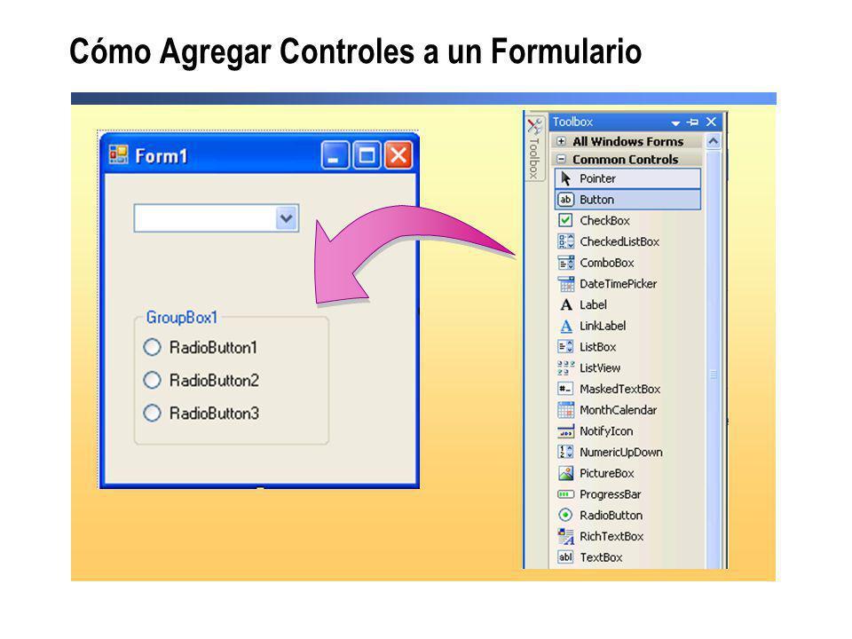 Cómo Agregar Controles a un Formulario