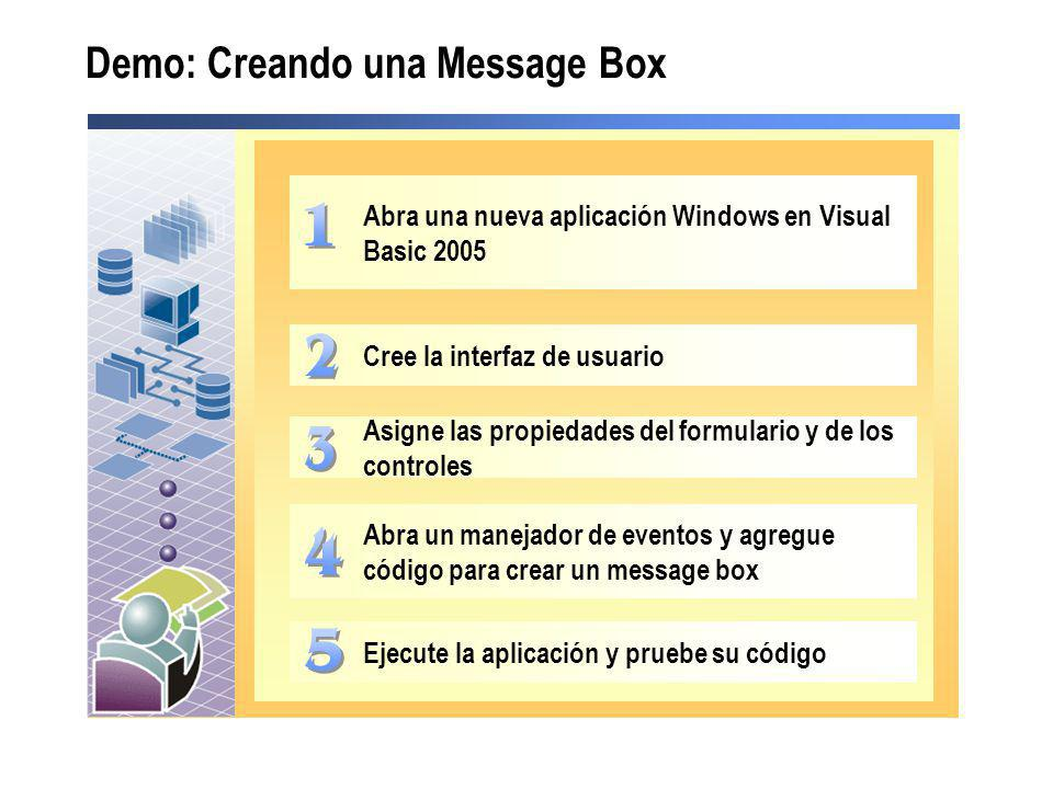 Demo: Creando una Message Box