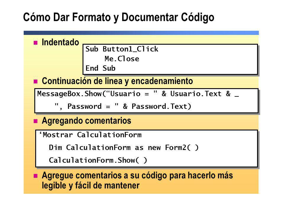 Cómo Dar Formato y Documentar Código