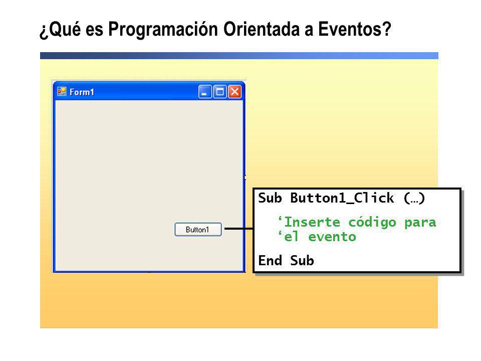 ¿Qué es Programación Orientada a Eventos