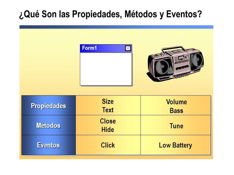 ¿Qué Son las Propiedades, Métodos y Eventos