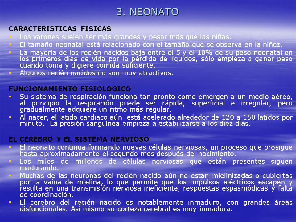 3. NEONATO CARACTERISTICAS FISICAS