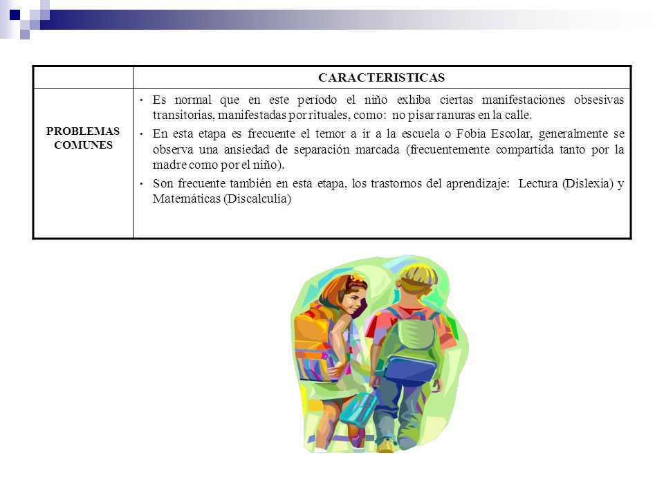 CARACTERISTICAS PROBLEMAS COMUNES.