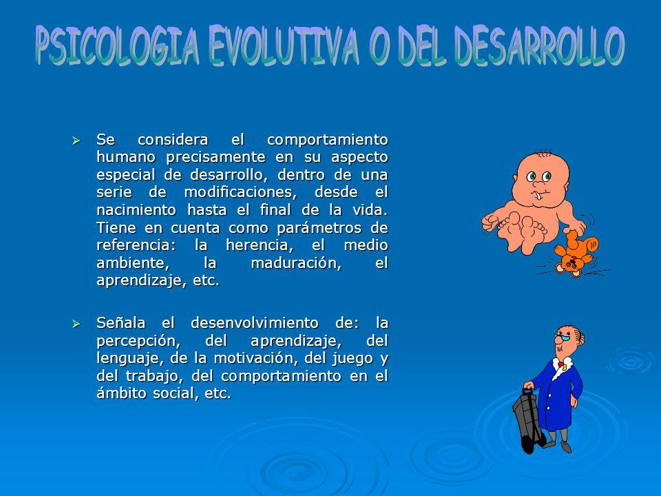 PSICOLOGIA EVOLUTIVA O DEL DESARROLLO