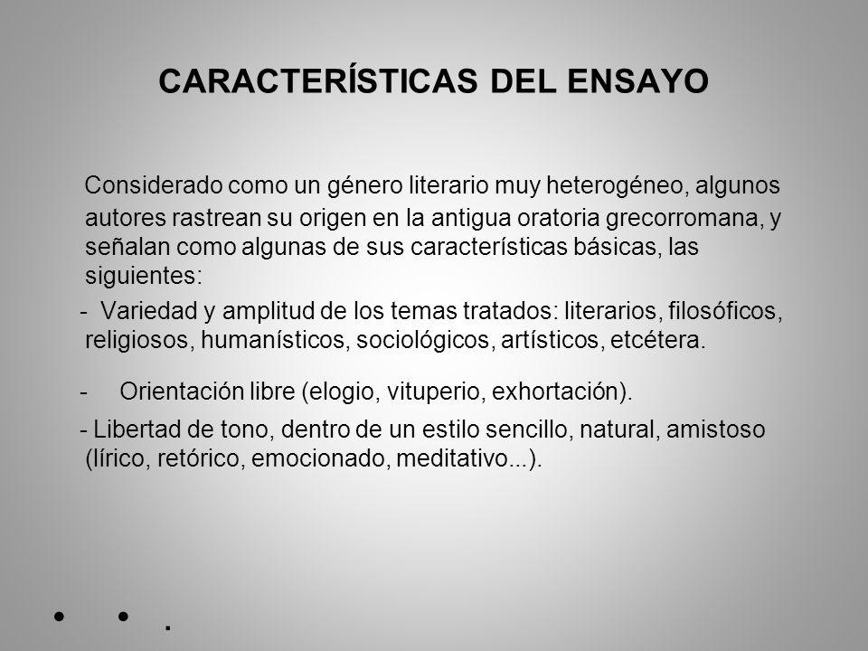 CARACTERÍSTICAS DEL ENSAYO