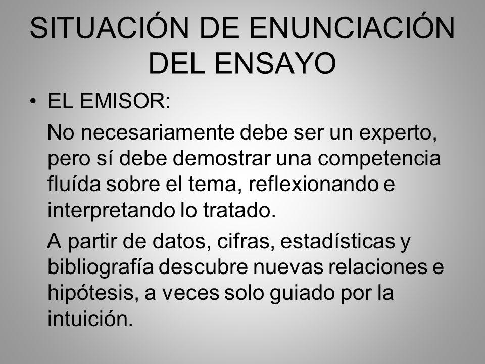 SITUACIÓN DE ENUNCIACIÓN DEL ENSAYO