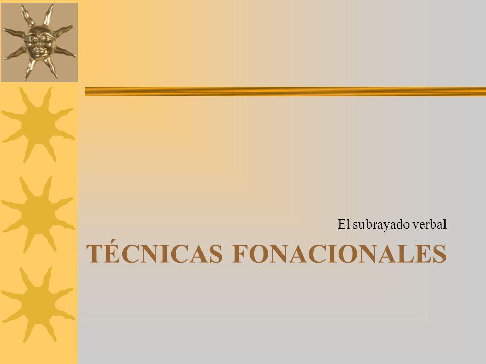 Técnicas fonacionales