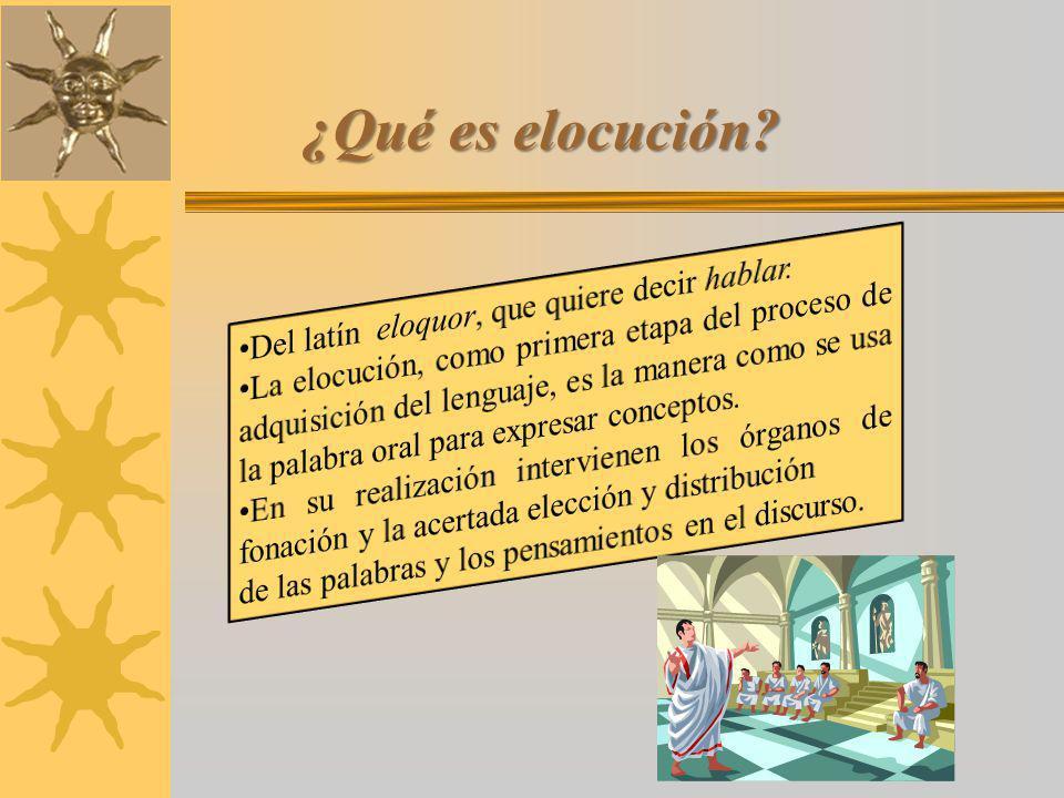 ¿Qué es elocución Del latín eloquor, que quiere decir hablar.