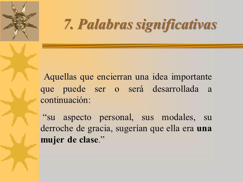 7. Palabras significativas