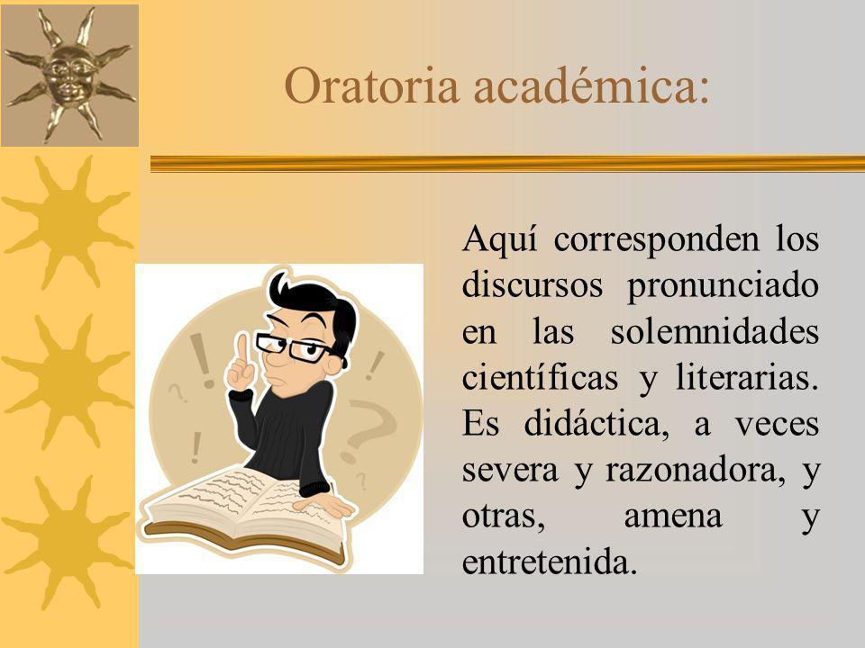 Oratoria académica: