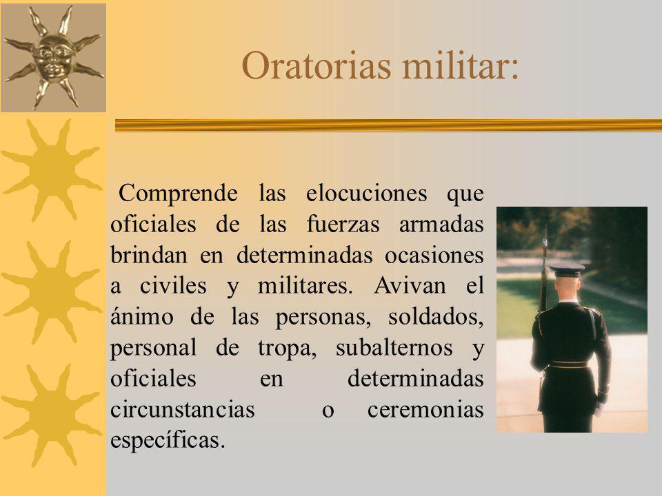 Oratorias militar: