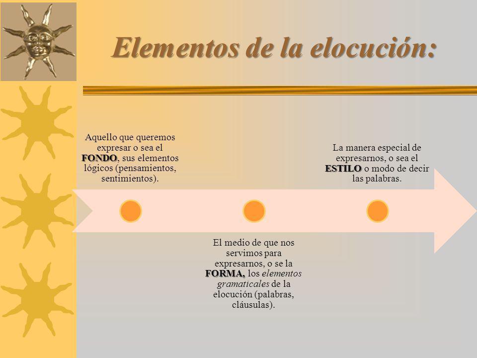 Elementos de la elocución: