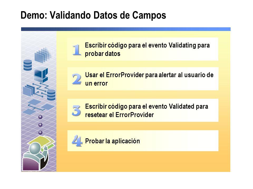 Demo: Validando Datos de Campos