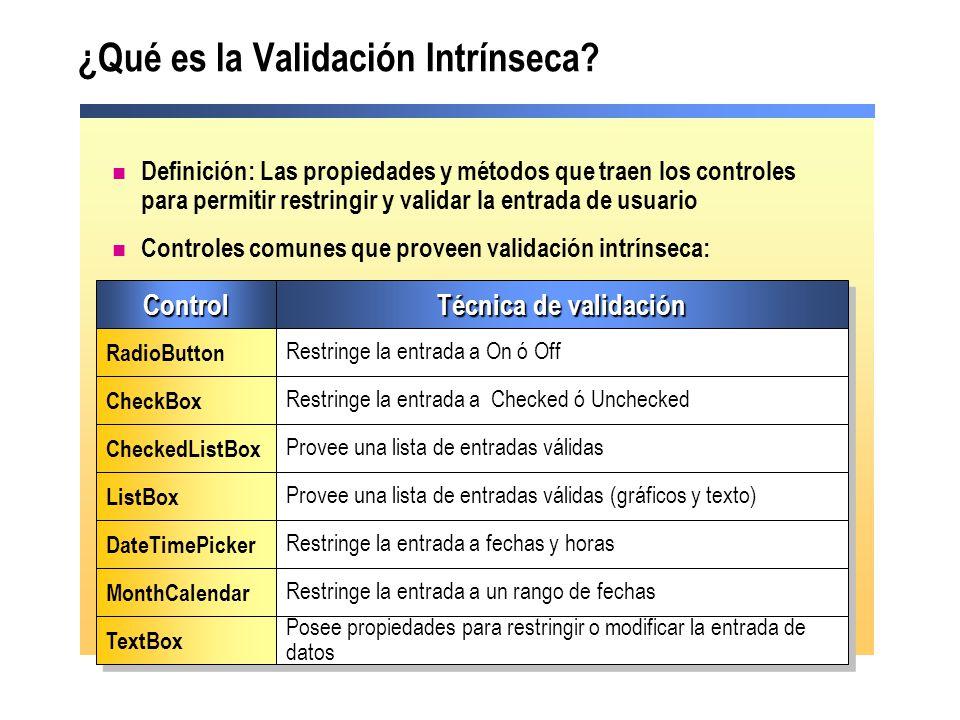¿Qué es la Validación Intrínseca