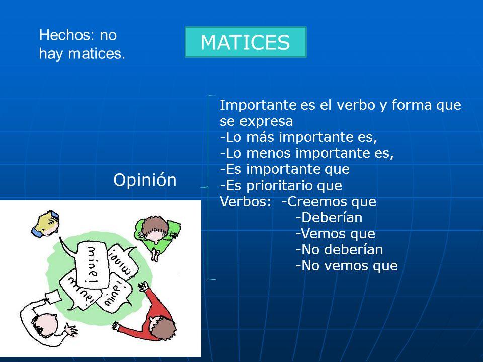 MATICES Opinión Hechos: no hay matices.