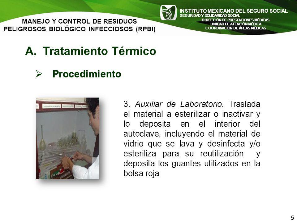 A. Tratamiento Térmico Procedimiento Procedimiento