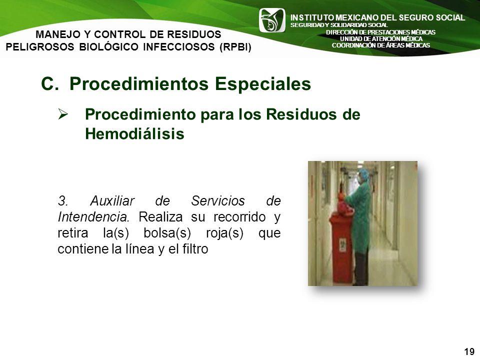 C. Procedimientos Especiales
