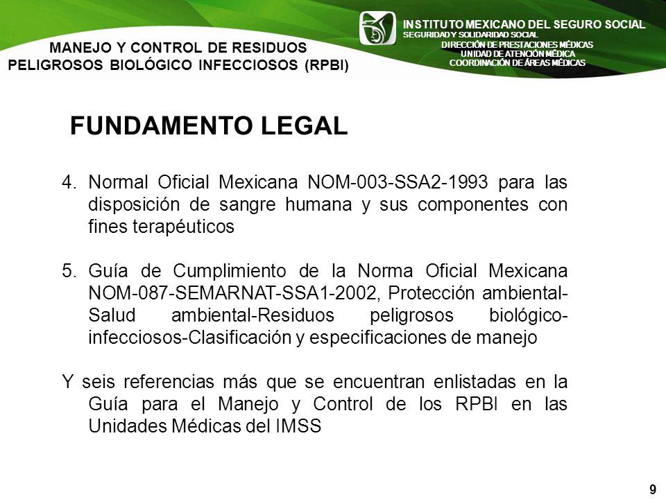 MANEJO Y CONTROL DE RESIDUOS PELIGROSOS BIOLÓGICO INFECCIOSOS (RPBI)