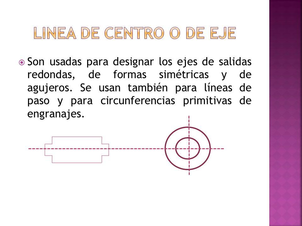 Linea de centro o de eje