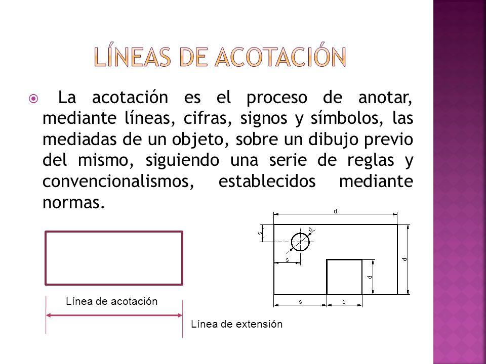 líneas de acotación