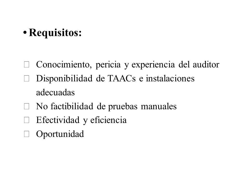 Requisitos: Conocimiento, pericia y experiencia del auditor