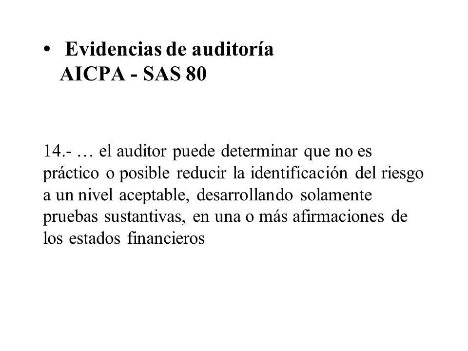 Evidencias de auditoría AICPA - SAS 80