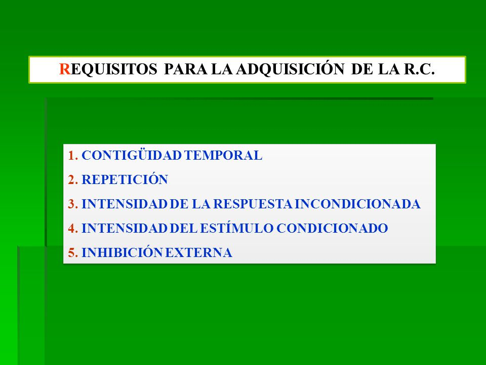 REQUISITOS PARA LA ADQUISICIÓN DE LA R.C.