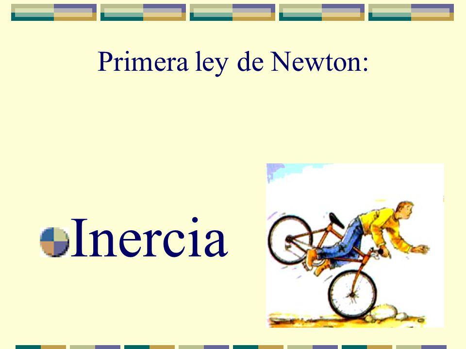Primera ley de Newton: Inercia