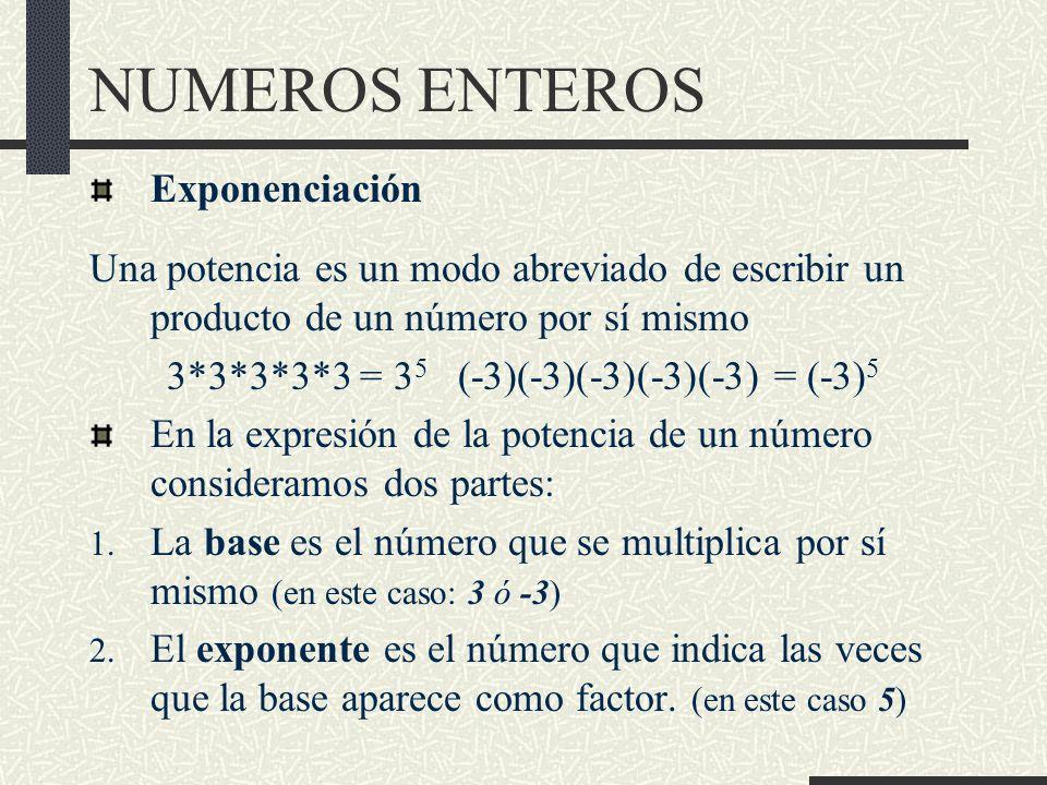 3*3*3*3*3 = 35 (-3)(-3)(-3)(-3)(-3) = (-3)5