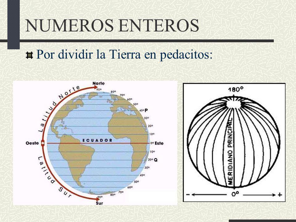 NUMEROS ENTEROS Por dividir la Tierra en pedacitos: