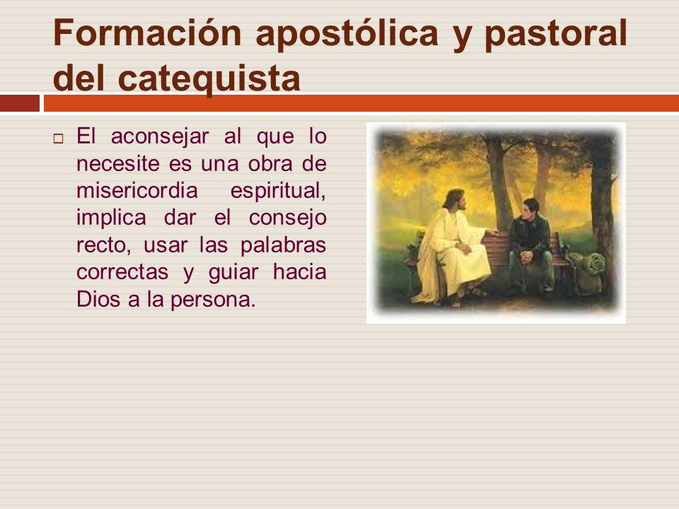 Formación apostólica y pastoral del catequista