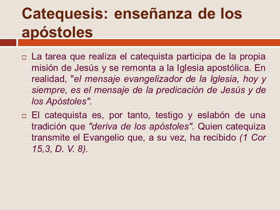 Catequesis: enseñanza de los apóstoles