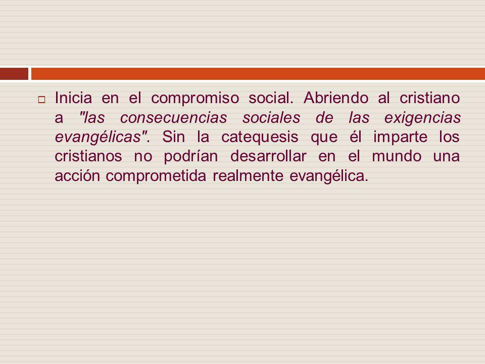 Inicia en el compromiso social